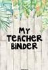 Tropical Teacher File/Binder Covers