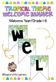 Tropical Welcome Bunting Banner
