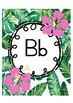 Tropical Themed Alphabet Chart - Junior Type Font