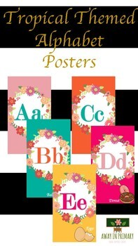 Tropical Themed Alphabet Poster