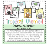 Tropical Themed Animal Alphabet *ACT and NSW Font*