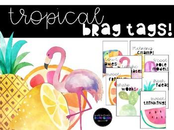 Tropical Themed Brag Tags!