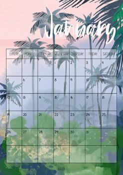 Tropical Themed Calendar