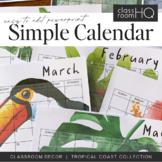 TROPICAL COAST Simple Calendar