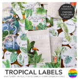 Tropical Themed Classroom Labels