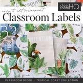 TROPICAL Editable Classroom Labels + Signs
