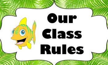 Tropical Themed Classroom Rules