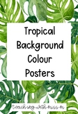 Tropical Themed Colour Posters