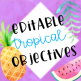 Tropical Themed Editable Objectives and Learning Target Headers