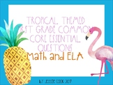 Tropical Themed First Grade Common Core Essential Questions