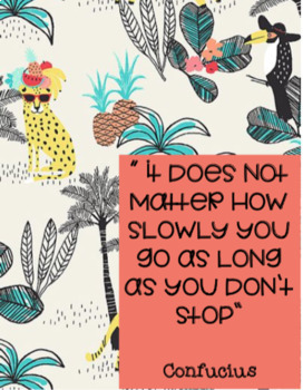 Tropical Themed Growth Mindset Quotes