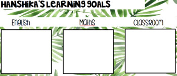 Tropical Themed Learning Goals Mats