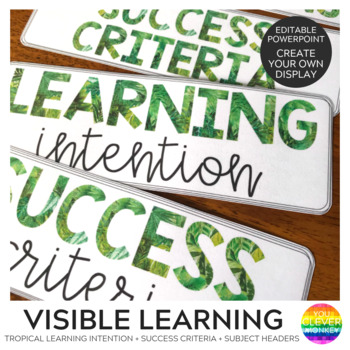 Tropical Themed Learning Intention + Success Criteria Banners