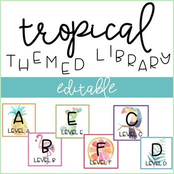 Tropical Themed Library Labels