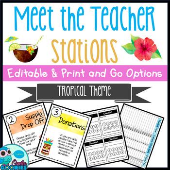 Tropical Themed - Meet the Teacher Night