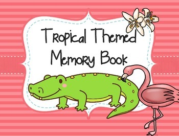Tropical Themed Memory Book