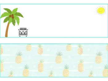 Tropical Themed Name Tags