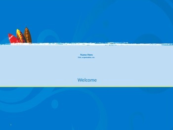 Tropical Themed PowerPoint Presentation Template with Charts and Photos