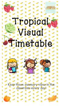 Tropical Themed Visual Timetable