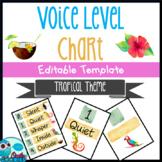 Tropical Themed - Voice Level Chart - EDITABLE