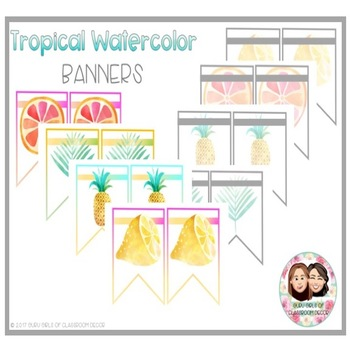Tropical Watercolor Banners