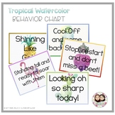 Tropical Watercolor Behavior Chart