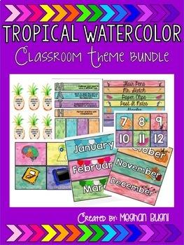 Tropical Watercolor Bundle