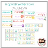 Tropical Watercolor Calendar