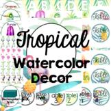 Tropical Watercolor Classroom Decor