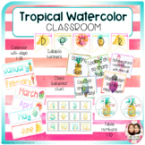 Tropical Watercolor Classroom Decor Growing Bundle-Back to School Decor
