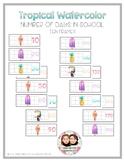 Tropical Watercolor Classroom Decor - Number of Days in School Ten Frames