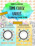 Tropical Watercolor Clock Labels, Worksheets, and Game