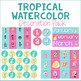 Tropical Watercolor Decor Pack EDITABLE