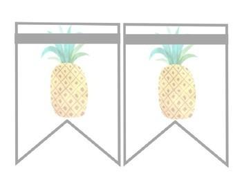 Tropical Watercolor Editable Banner