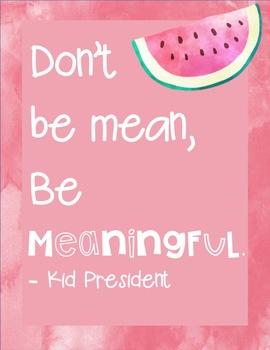 Tropical Watercolor Kid President Posters