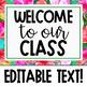 Tropical Watercolor Meet the Teacher Presentation - EDITABLE!