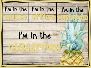 Tropical Watercolor Where are we Poster - 4 backgrounds