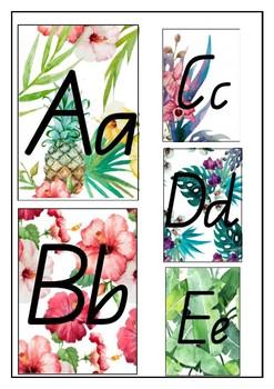 Tropical Watercolour Alphabet QLD Beginners