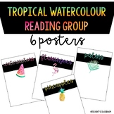 Tropical Watercolour Reading Spelling Maths Group Posters