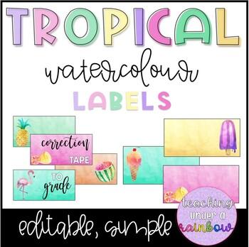 Tropical Watercolour Tags