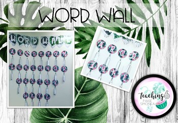 Tropical Word Wall