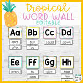 Tropical Word Wall Letters EDITABLE
