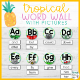 Tropical Word Wall with Pictures