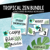 Tropical Zen Classroom Decor Bundle