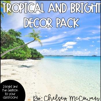Tropical and Bright Classroom Decor