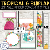 Tropical and Shiplap Binder Covers and Spine Labels
