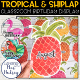 Tropical and Shiplap Birthday Display