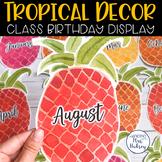 Tropical and Shiplap Birthday Display