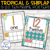 Tropical and Shiplap Ten Frame Posters
