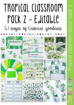 Tropical classroom pack 2 - editable
